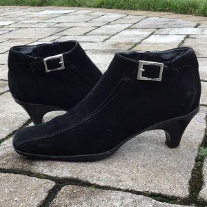 Prada Black Suede Ankle Booties